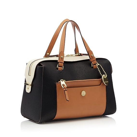 1fac83863e5 J By Jasper Conran Black Faux Leather 'Balham' Large Bowler Bag: J by Jasper  Conran: Amazon.co.uk: Clothing