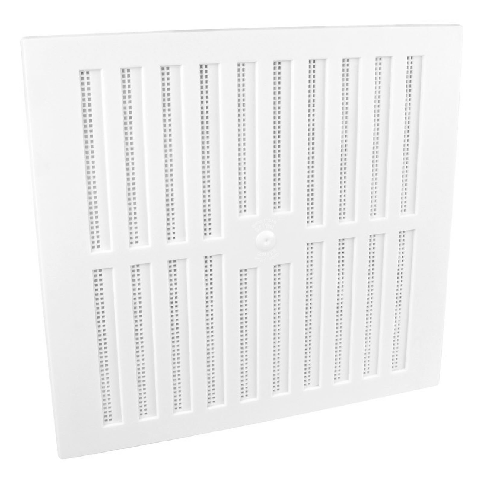 9'' x 9'' White Plastic Adjustable Air Vent Grille with Flyscreen Cover