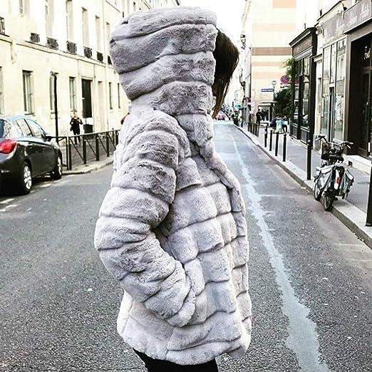 Beikoard_Ropa de mujer, Chaquetas de visón para Mujer Abrigo de Invierno Nueva Chaqueta de Piel sintética Chaqueta de Abrigo Gruesa y cálida: Amazon.es: ...