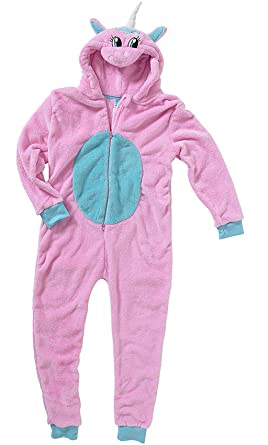 eec7ad4c8b7a Girls Boys Novelty Fleece All in One Piece Pyjamas Jump Sleep Suit ...