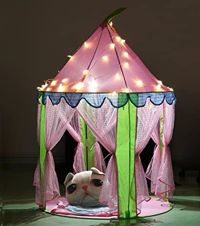 EocuSun Girls Princess Castle Play Tents with Glow in the Dark Stars Kids Pink Play & Amazon.com: EocuSun Girls Princess Castle Play Tents with Glow in ...