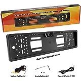 Yinuo 170 ° HD Farb-CMOS-Auto-Rückfahrkamera, wasserdicht | Night Vision | 4 LED, 10-14 V, Schwarz