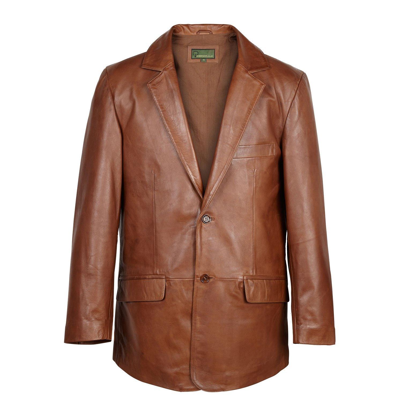 728: Leather Blazer Chestnut