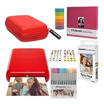 Polaroid Zip Impresora de Fotos Inalámbrica (Rojo) Kit con ...
