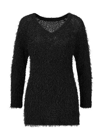 low priced 88478 02e64 Flausch-Pullover, schwarz: Amazon.de: Bekleidung