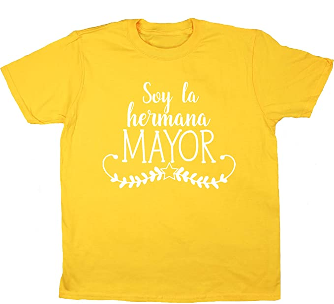 HippoWarehouse Soy La Hermana Mayor camiseta manga corta niños niñas unisex