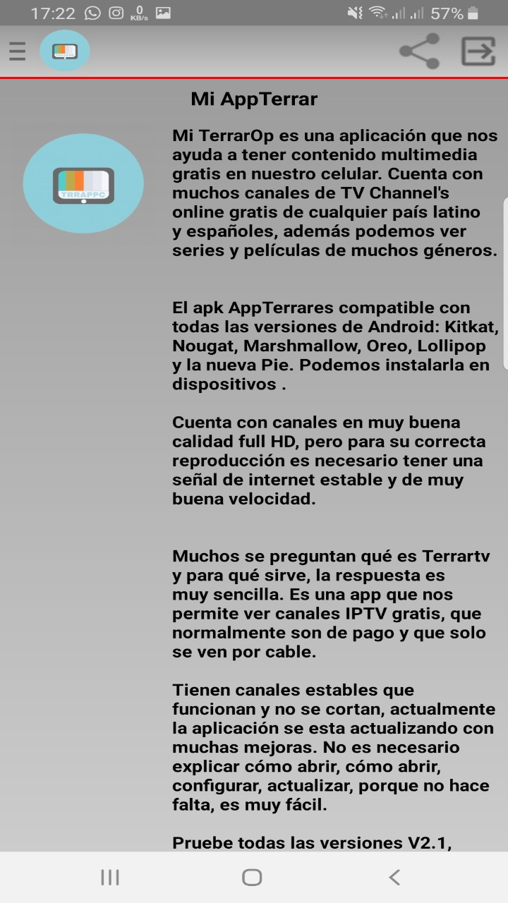 Gratis Terrar App info: New TV App: Amazon.es: Appstore para Android