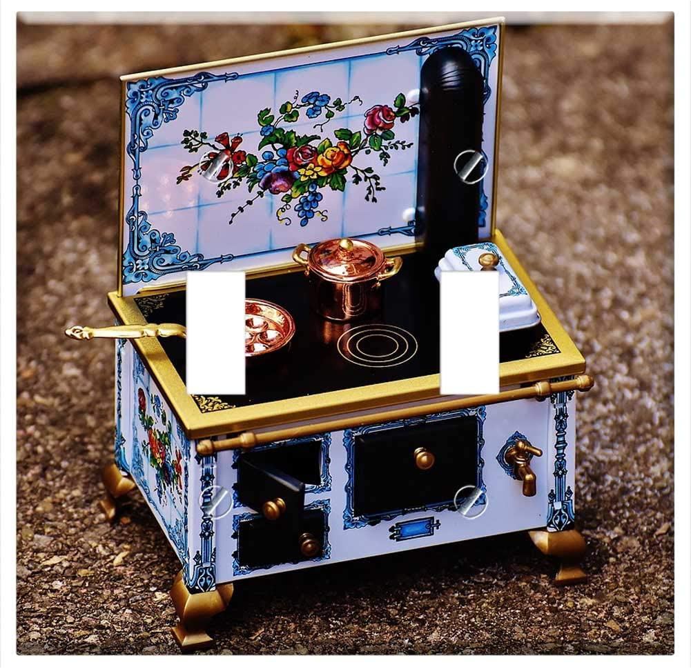 Switch Plate Double Toggle - Stove Oven Sheet Dolls Houses Dolls Furniture Heat 2