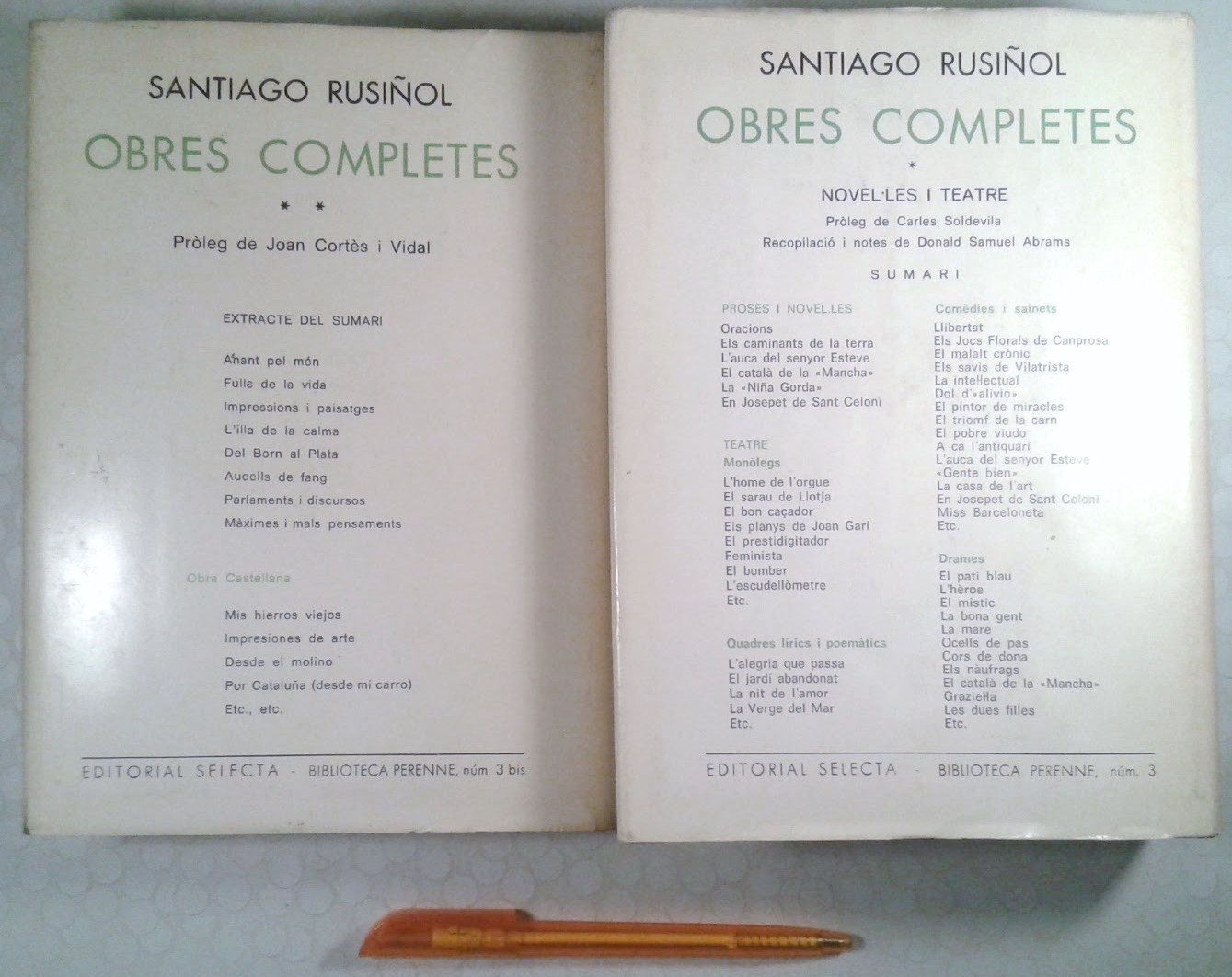 Obres completes (Biblioteca perenne ; v. 3) (Catalan Edition): Santiago Rusiñol: 9788429805697: Amazon.com: Books