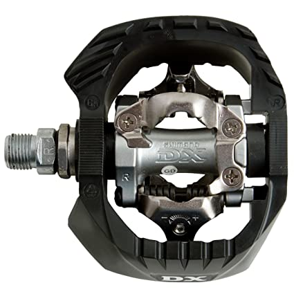 7156d9fc2 Amazon.com   SHIMANO PD-M647 Clipless Pedal with Outer Cage   Bike Pedals    Sports   Outdoors