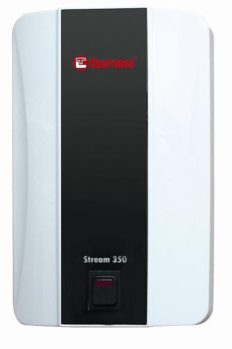 Thermex Stream 350 - Calentador de agua eléctrico instantáneo (incluye juego de ducha y grifo