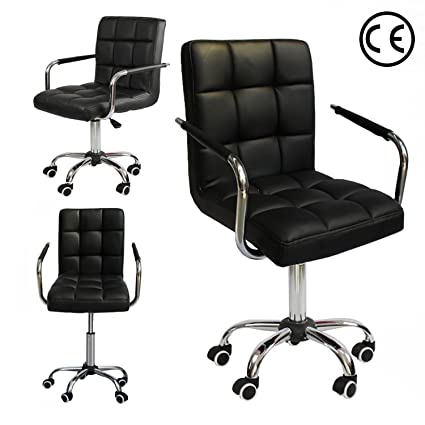 Cool Amazon Com Adjustable Leather Office Chair With Arm Rest Lamtechconsult Wood Chair Design Ideas Lamtechconsultcom
