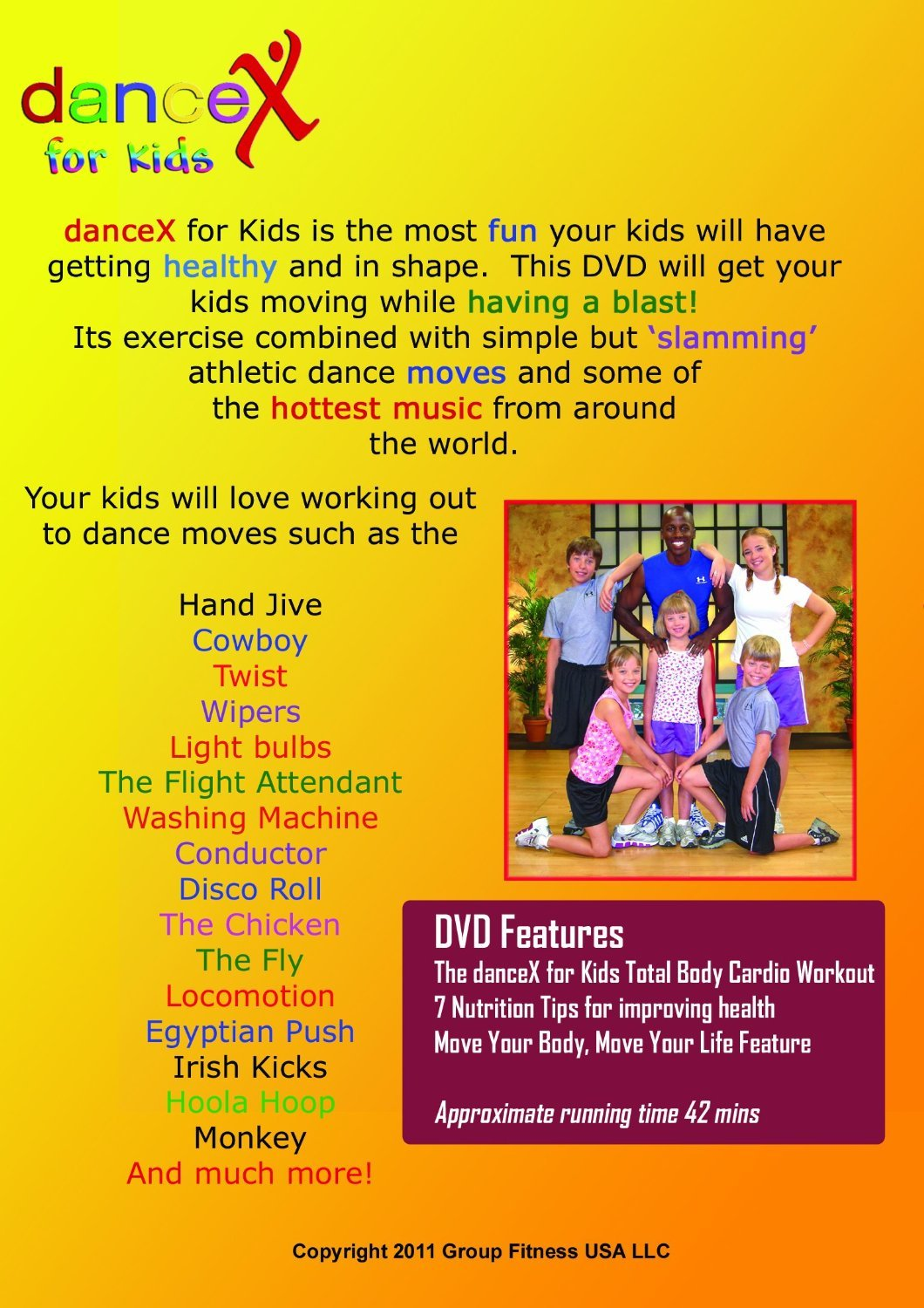 Dancex Fun Dance Exercise Dvd For Kids With Great January Indoor Workout Full Body Circuit Timed Music Ultimate Fitness And Video Sports