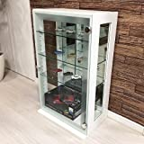 「DUET デュエット」ガラスコレクションケース ホワイト コレクション 背面ミラー ラック ボックス