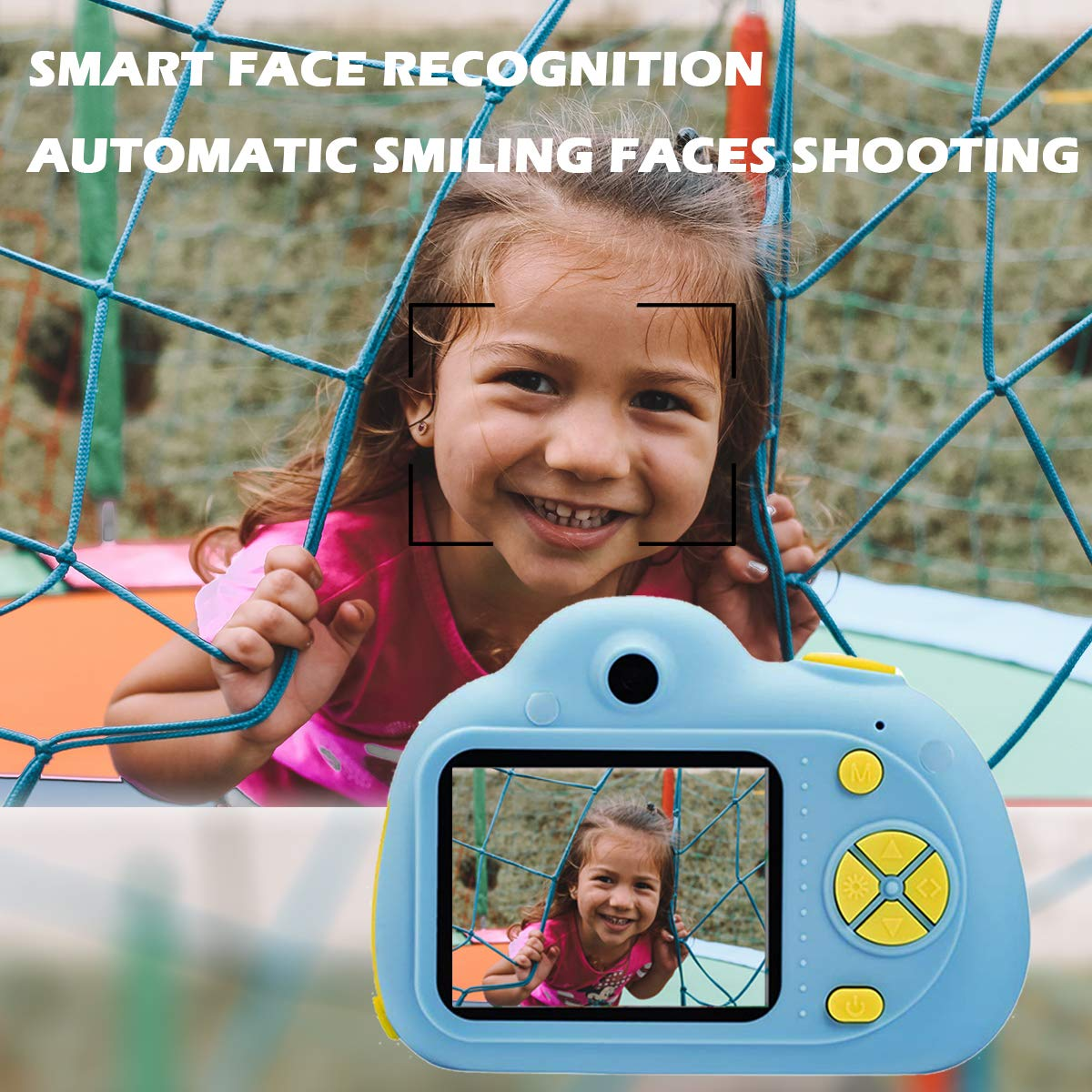 KIDOVE Kids Toys Fun Camera, Waterproof & Shockproof Child Selfie digital game Camcorder, 8MP 1080P dual camera Video Recorder, Creative Birthday Gifts for girls and boys, 16GB TF Card Included (Blue) by KIDOVE (Image #3)