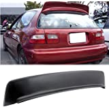 Fit 92-95 Honda Civic SI 3Drs Hatch BYS Style Roof Spoiler Wing EG JDM ABS Plastic 1992 1993 1994 1995