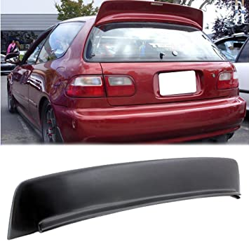 Fit 92 95 Honda Civic SI 3Drs Hatch BYS Style Roof Spoiler Wing EG JDM