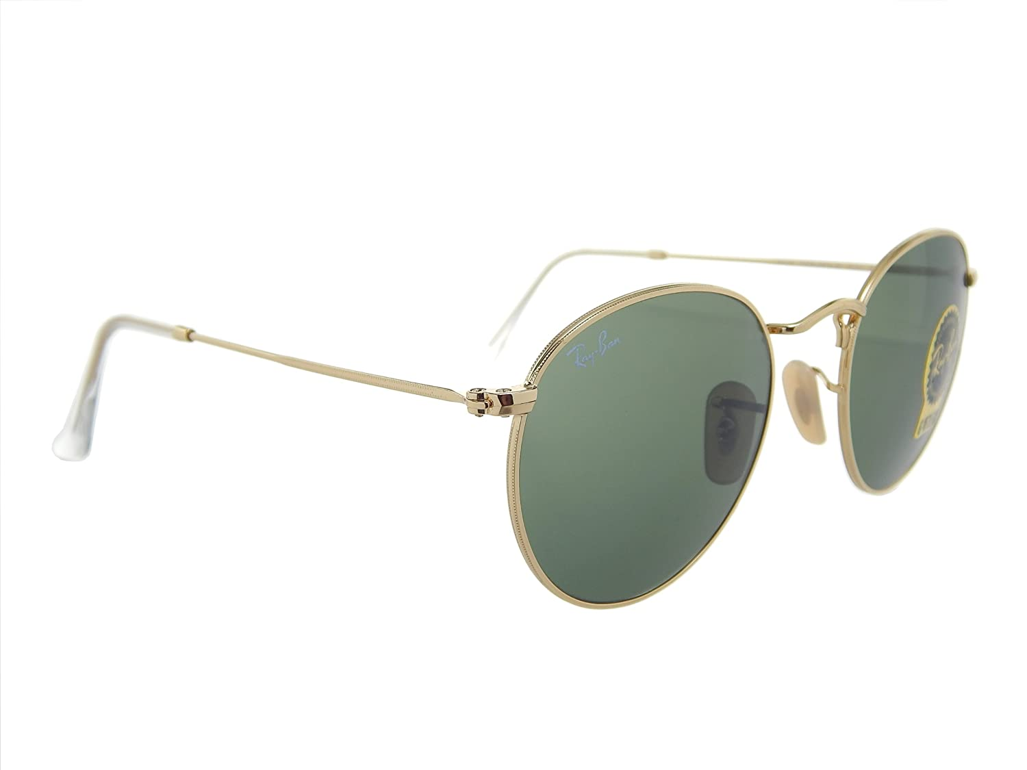 f7206f60a8 Ray Ban Round Metal RB3447 001 Gold Green Classic 50mm Sunglasses  Amazon.de   Bekleidung