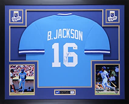 Amazon.com: Bo Jackson Autographed Blue Royals Jersey ...