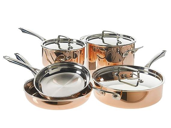 Cuisinart Tri-Ply - Batería de cocina (cobre, 8 piezas): Amazon.es ...