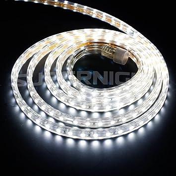 Amazon binzet 10ft 5050 smd 110v daylight white led strip binzet 10ft 5050 smd 110v daylight white led strip lights ip67 waterproof outdoor led rope lights mozeypictures Images
