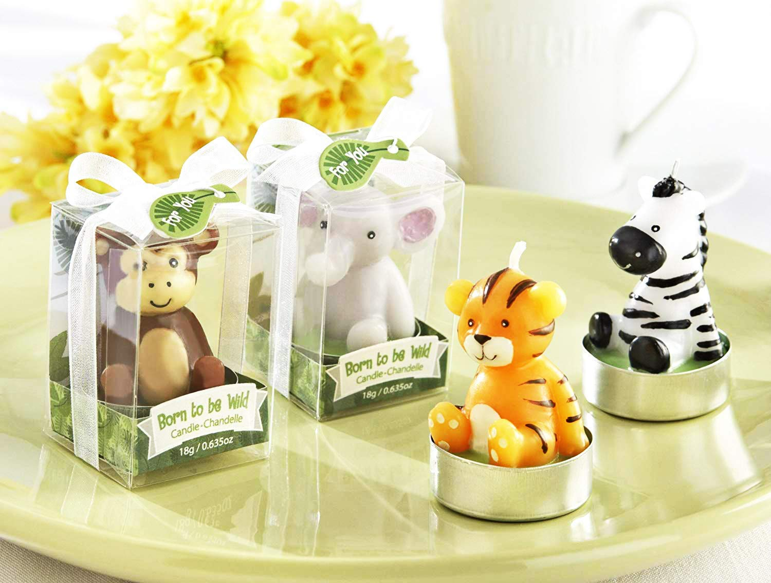 Kate Aspen Baby Shower Animal Candles, Born to be Wild - 24 Sets of 4, Total 96 Pieces by Kate Aspen (Image #1)