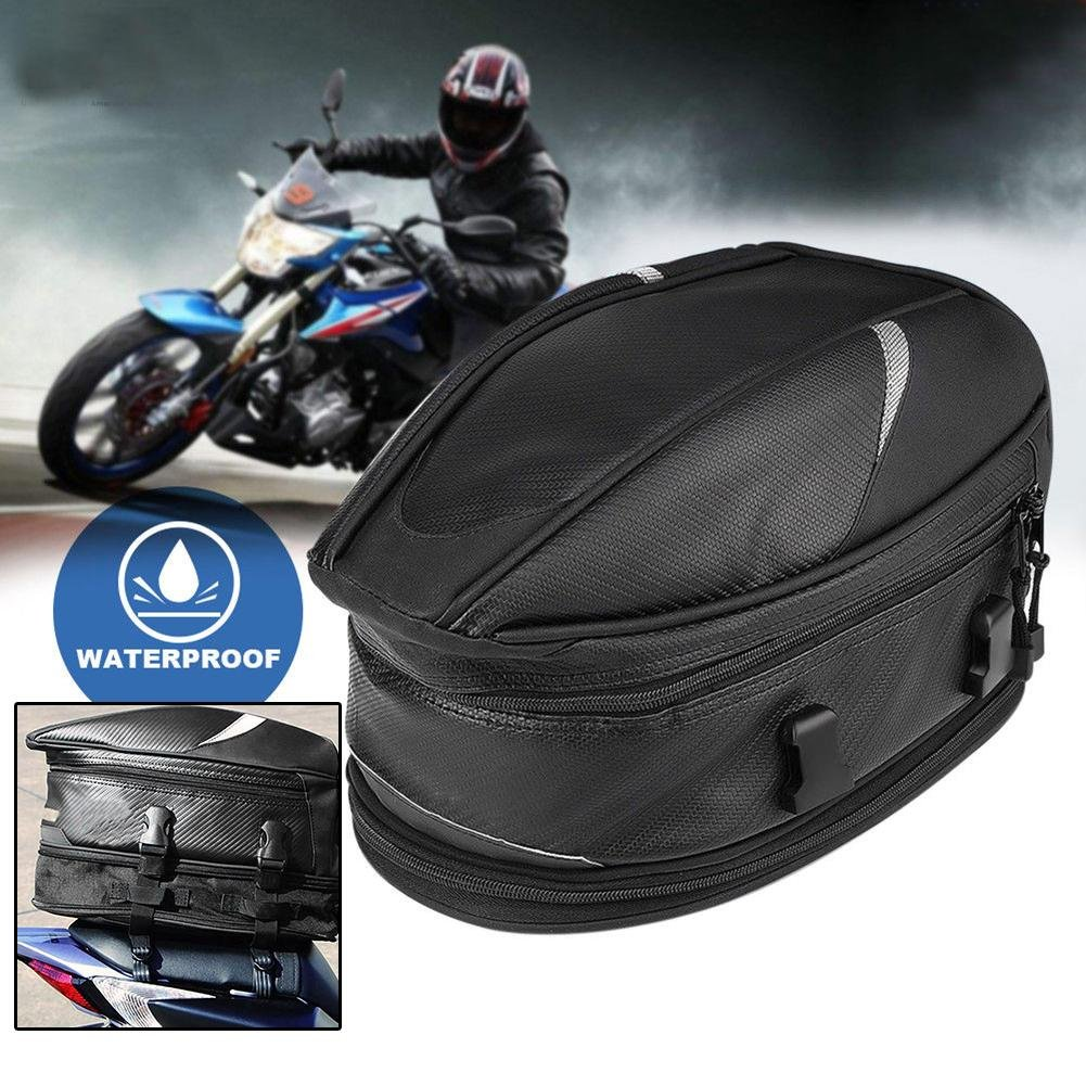 RUNGAO Motorcycle Rear Tail Bags Sport Back Seat Bag Scooter Helmet Waterproof Pack