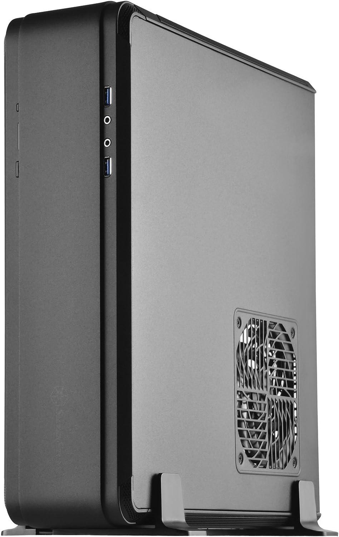 Silverstone Technolgo Aluminum Unibody Mini-Itx Small Form Factor Computer Case with ATX Support in Black FTZ01B-E-USA