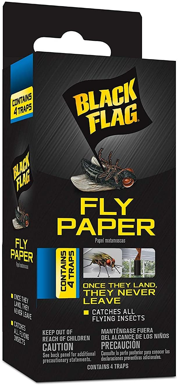 Black Flag Fly Paper Insect Trap(2Pack)