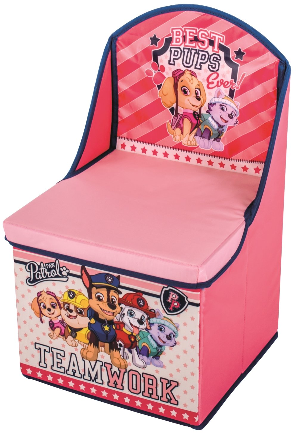 PINK Paw Patrol Kids Chair with Storage Girls Bedroom Furniture 88720