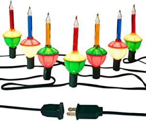 Bubble Lights, Connectable Vintage Christmas Lights, Indoor String Lights for for Christmas Tree Fireplace Mantel, Old Fashion Christmas Decorations (7 Lights)