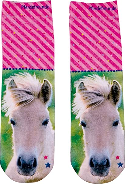 Calcetines rosas amigos de los caballos de Spiegelburg: Amazon.es: Ropa y accesorios