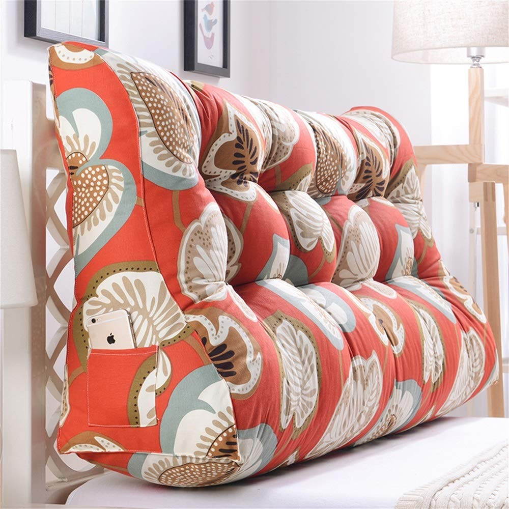 GLP ベッドサイドクッション三角背もたれ腰のソファ大きな枕張りパッド22色&8サイズで取り外し可能 (Color : N, Size : 120x30x60cm) B07RT5XVCC