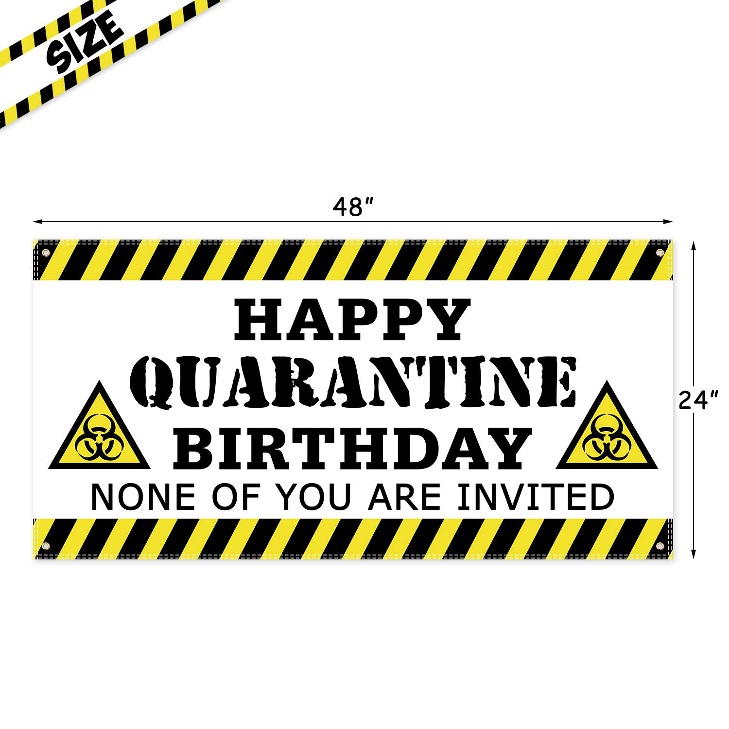White Quarantine Birthday Party Decorations Quarantine 1st Birthday Backdrop Quarantine Birthday Funny Poster Decor Stay Home Party Sign Quarantine Birthday Banner
