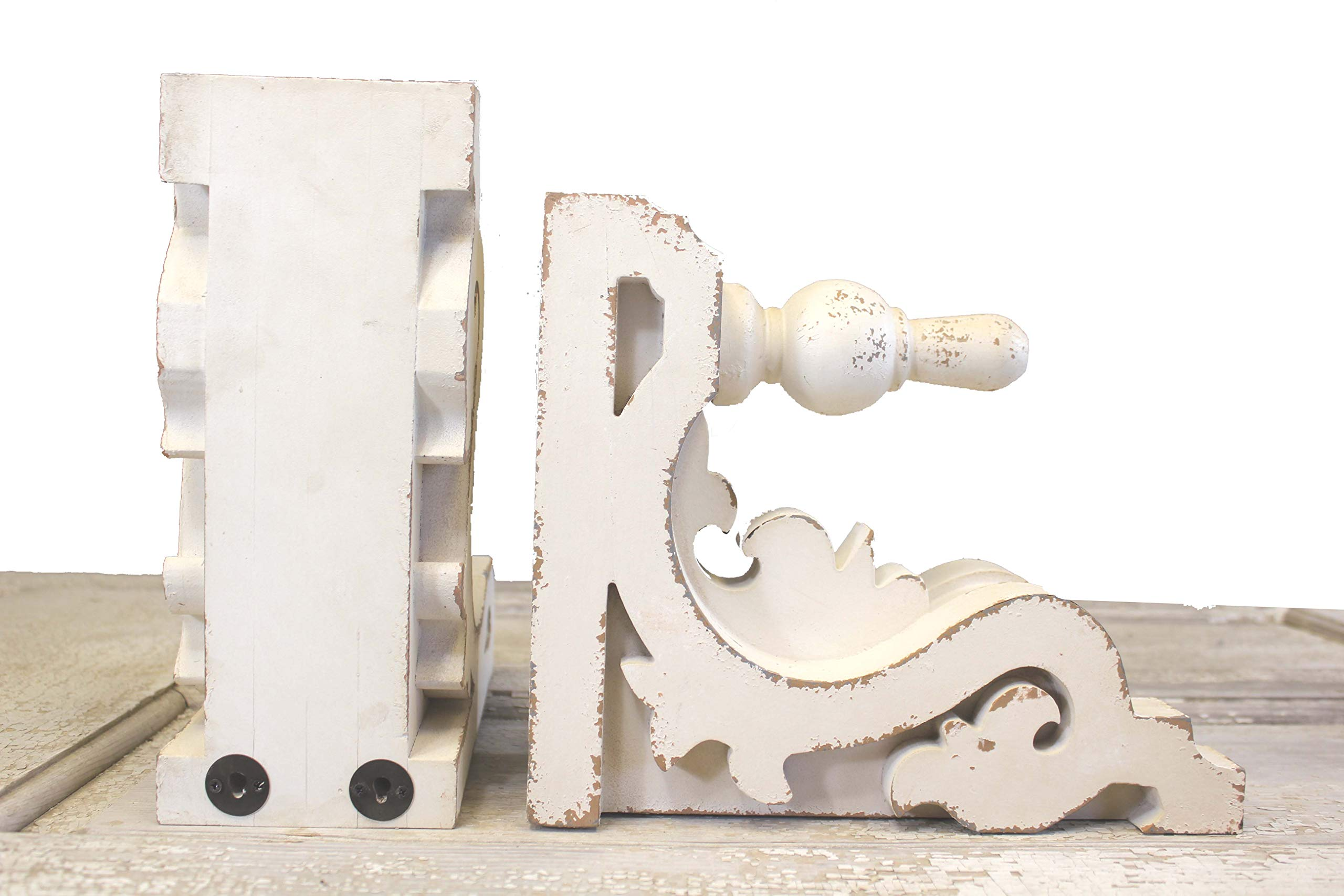 Silvercloud Trading Co. Architectural Corbels, Wall Shelf, Bookends - Large 11'' - Sold as Set of 2 - Ready to Hang - Painted & Distressed by Silvercloud Trading Co.