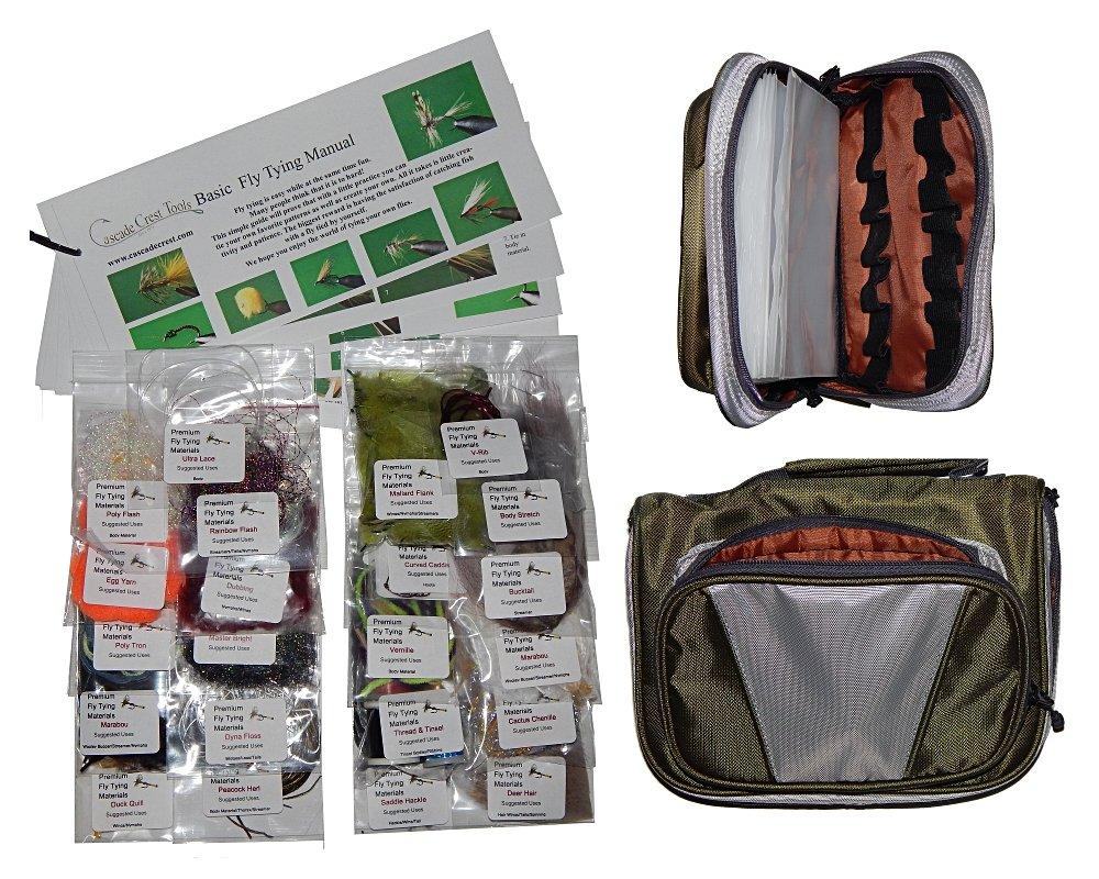 カスケードTrout Fly Tying材質キットwith Essentials Tyingマテリアルバッグ。。。   B01E8D6V0W