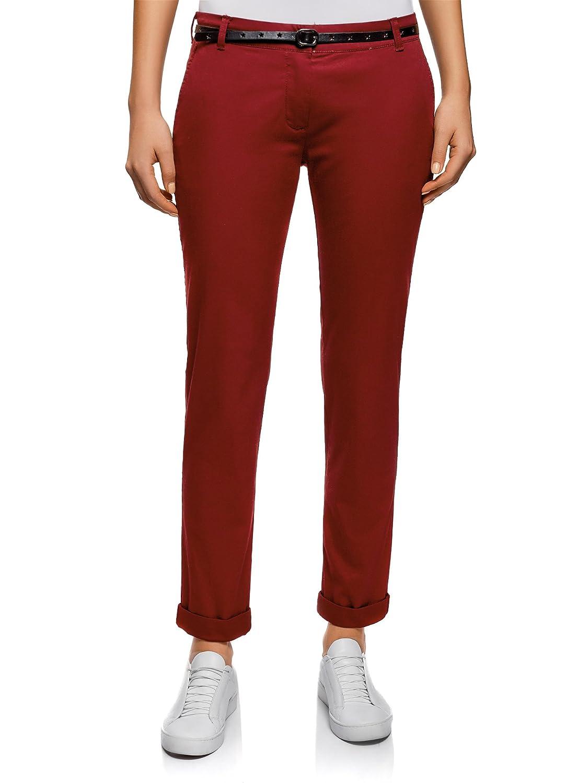 oodji Ultra Women's Belted Chino Pants RIFICZECH s.r.o. 11706190-3B