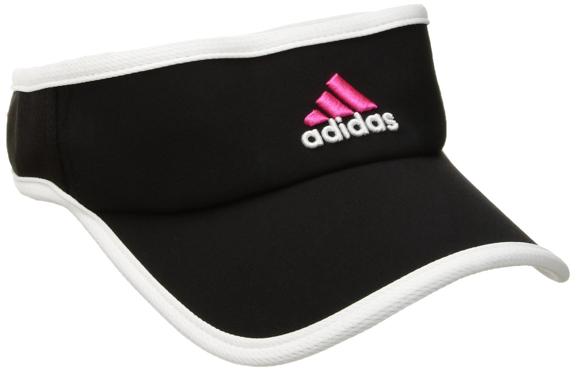 adidas Women's Adizero Visor, Black/White/Blaze Pink, One Size Fits All