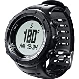 EZON Men's Digital Sports Watch for Outdoor Hiking with Compass Altimeter Barometer Thermometer Waterproof Military Watch Wristwatch H001H11