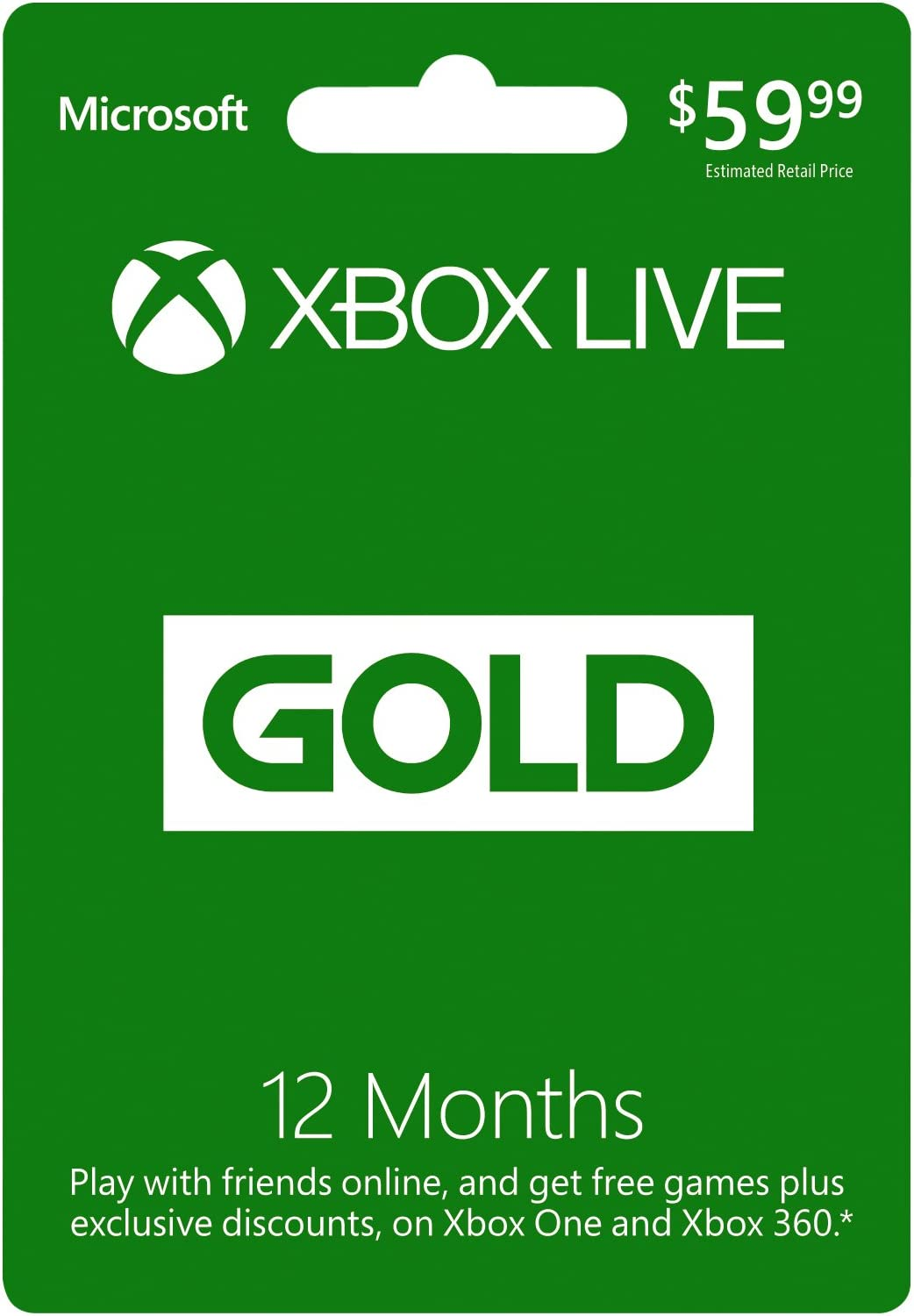 Amazon.com: Microsoft Xbox LIVE 12 Month Gold Membership ...