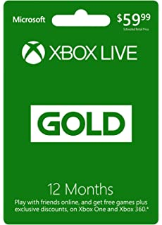 Amazon com: Xbox LIVE 12 Month Gold Membership Card: Video Games