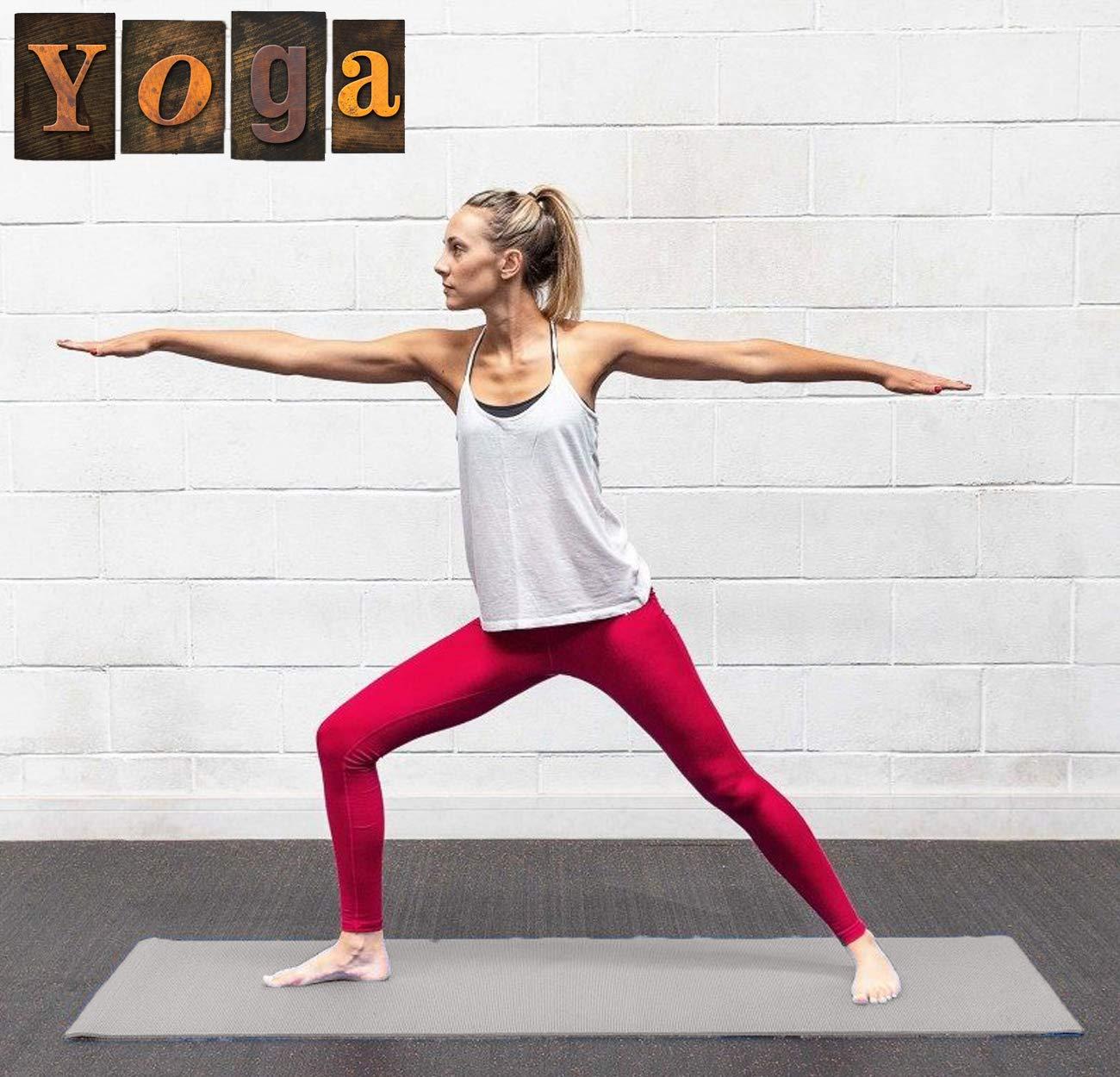 Xn8 in ABS per Fitness Morbido Grigio Extra Spesso Tappetino da Yoga Ginnastica Pilates Fisioterapia 6 mm Antiscivolo Allenamento