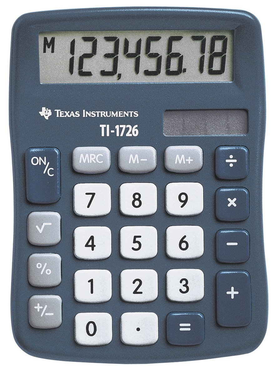 Texas Instruments TI1726 Solar Calculator TI-1726