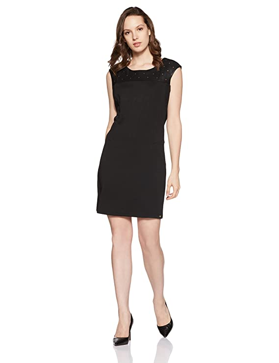 Elle by Unlimited Women's Body Con Dress Women's Dresses at amazon