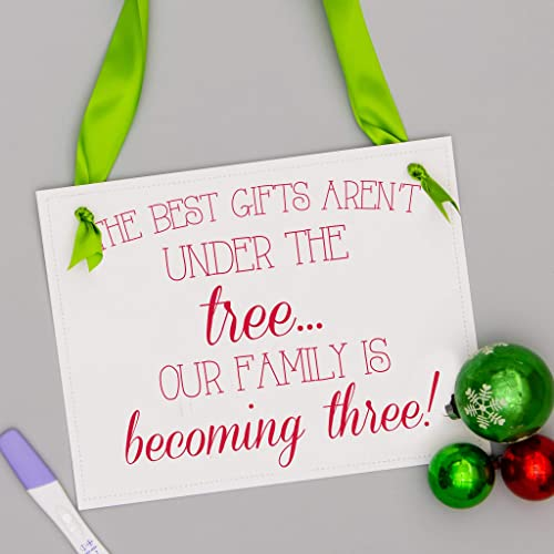 22f59aa3483a7 Amazon.com  Christmas Pregnancy Announcement Sign for First Baby ...