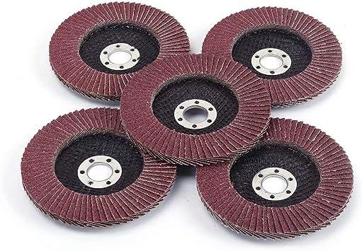 "10 Pcs 4/"" x 5//8/"" Sanding Flap Disc Grinding Wheel 320 Grit for Angle Grinder"