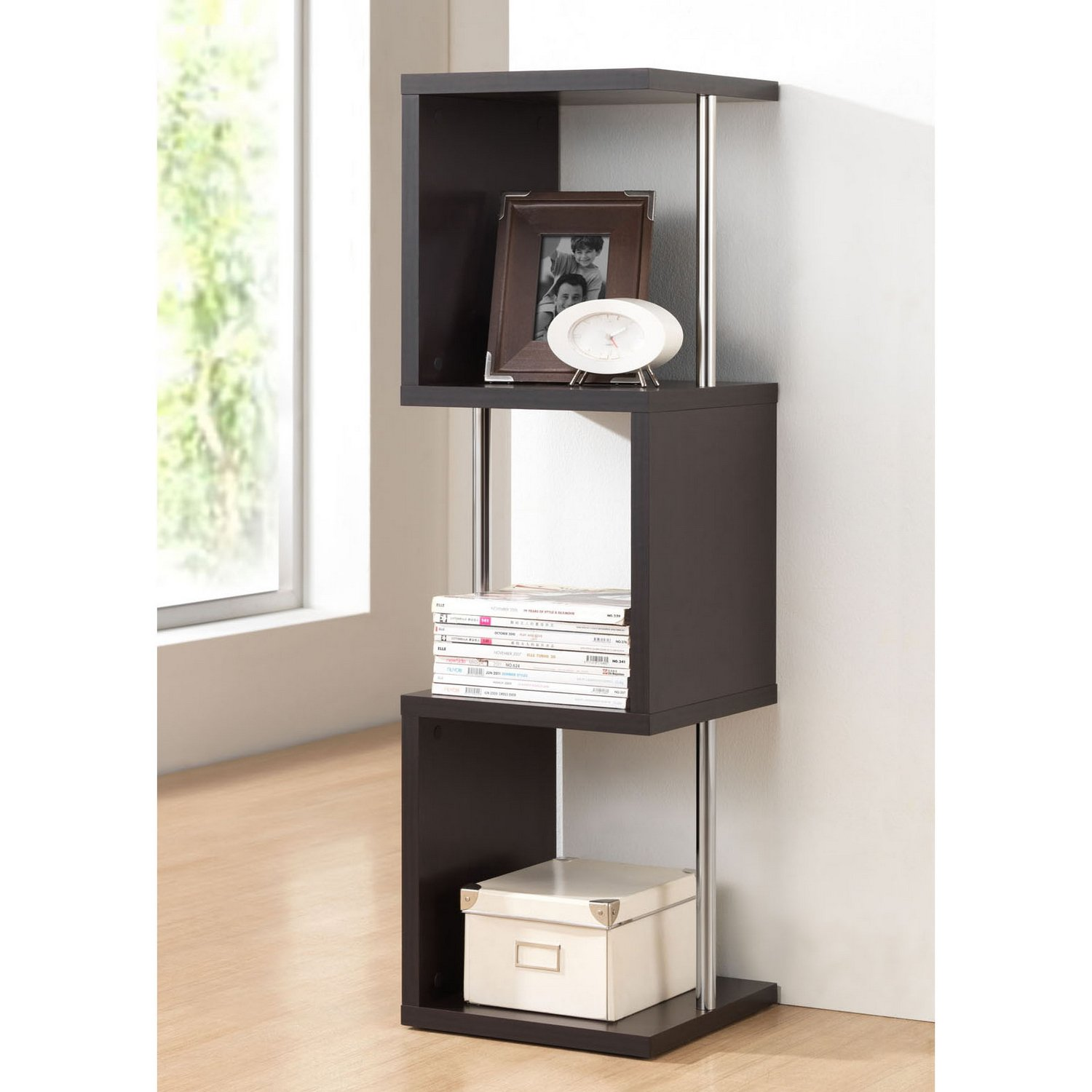 Amazon.com: Baxton Studio Lindy 3-Tier Modern Display Shelf, Cappuccino:  Kitchen & Dining