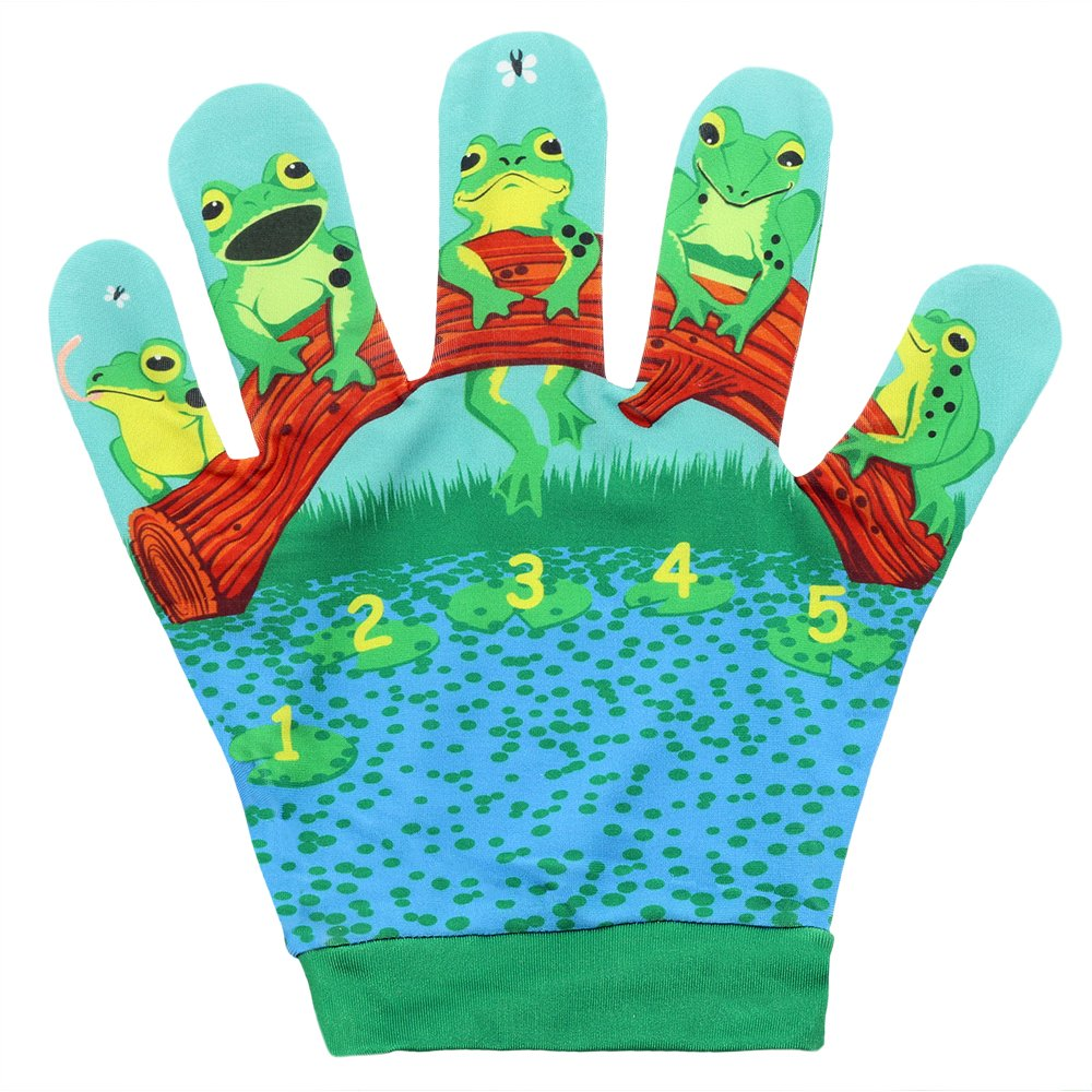 The Puppet Company Favourite Song Mitts Five Little Frogs Hand Puppet