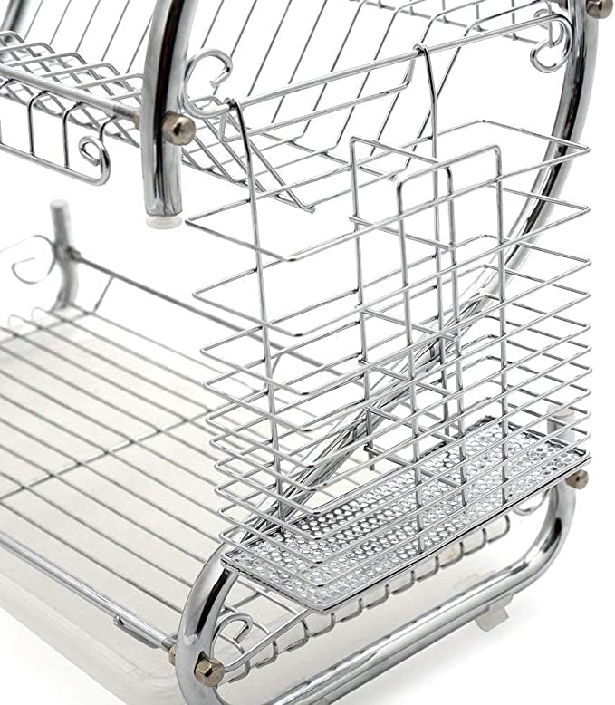 HIGH QUALITY CHROME PLATED FINISH DISH DRAINER ELITE PRO 9OO ...