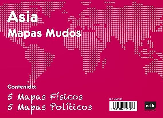 Grupo Erik Editores Pack 10 Mapas Mudos Asia Politica Fisica ...